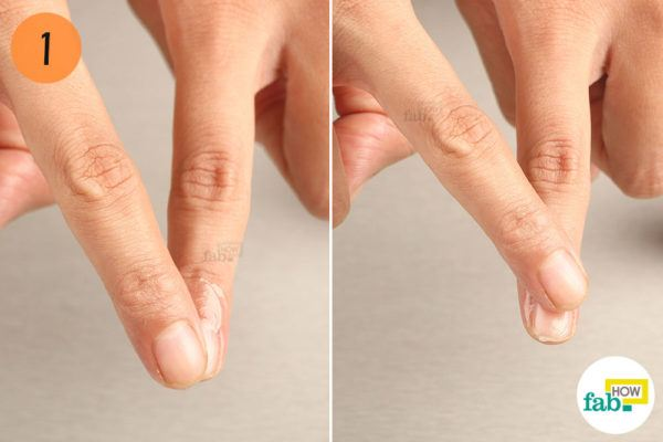 Gently massage your nails with Vaseline for brittle nails