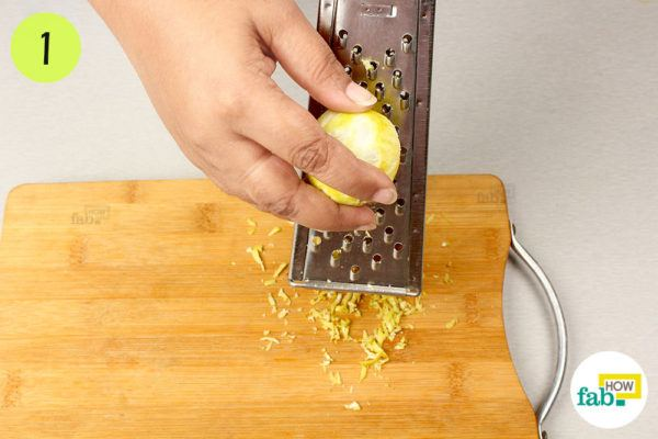 Lightly grate the lemon