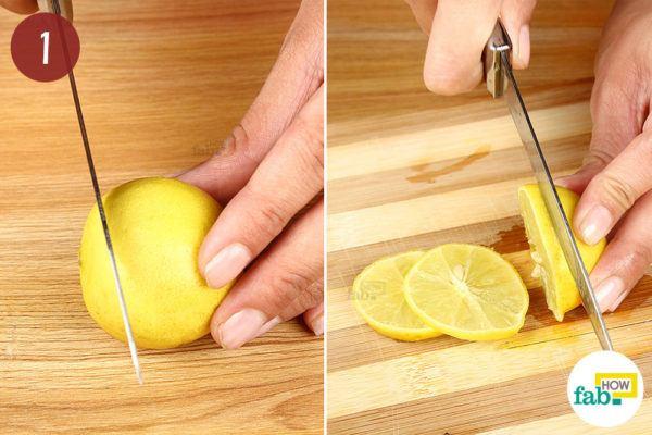 Slice up the lemon