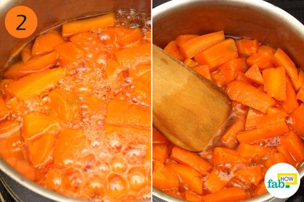Step-2. Cook the carrots to mush
