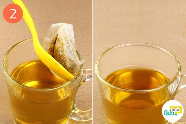 Discard the tea bag and enjoy your tea