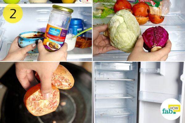 Empty your refrigerator