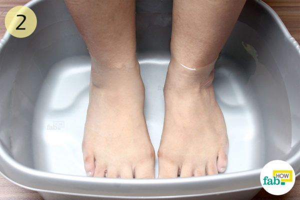 Give your feet 15-20 minute soak