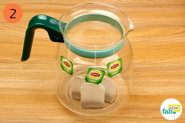 Put teabags in the kettle