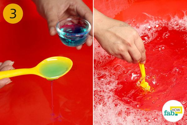 Make a soapy solution