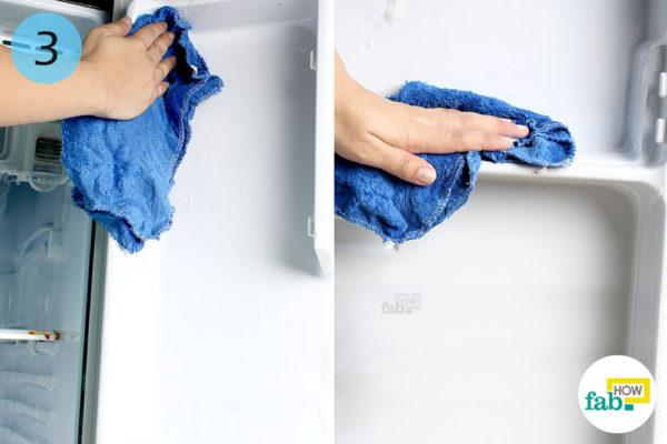Wipe the soap clean with a damp towel