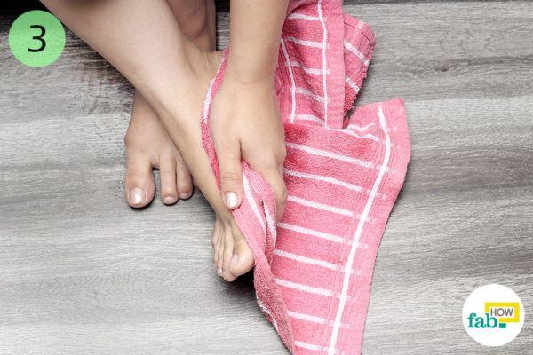 Wipe your feet dry
