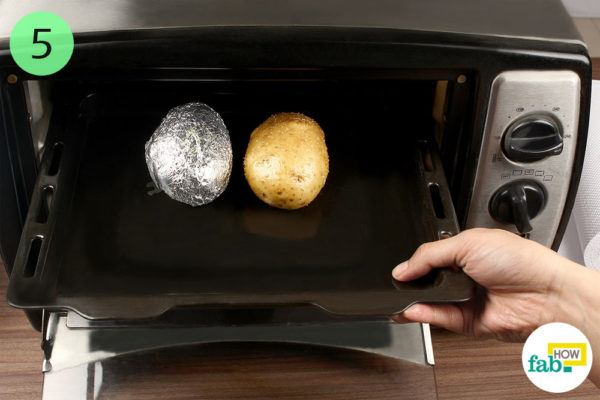 Cook the potatoes in the oven for 50 minutes