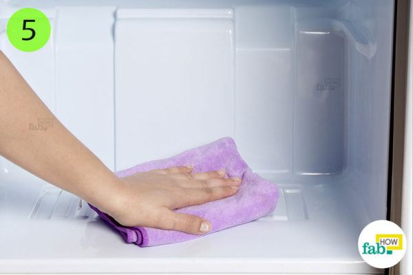 Dry the entire surface with a microfiber towel