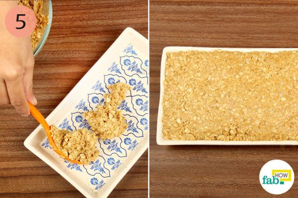 Pack a tray or a dish with thegranola and let it set overnight