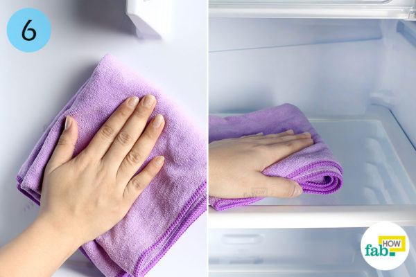 Dry the interior with a microfiber towel