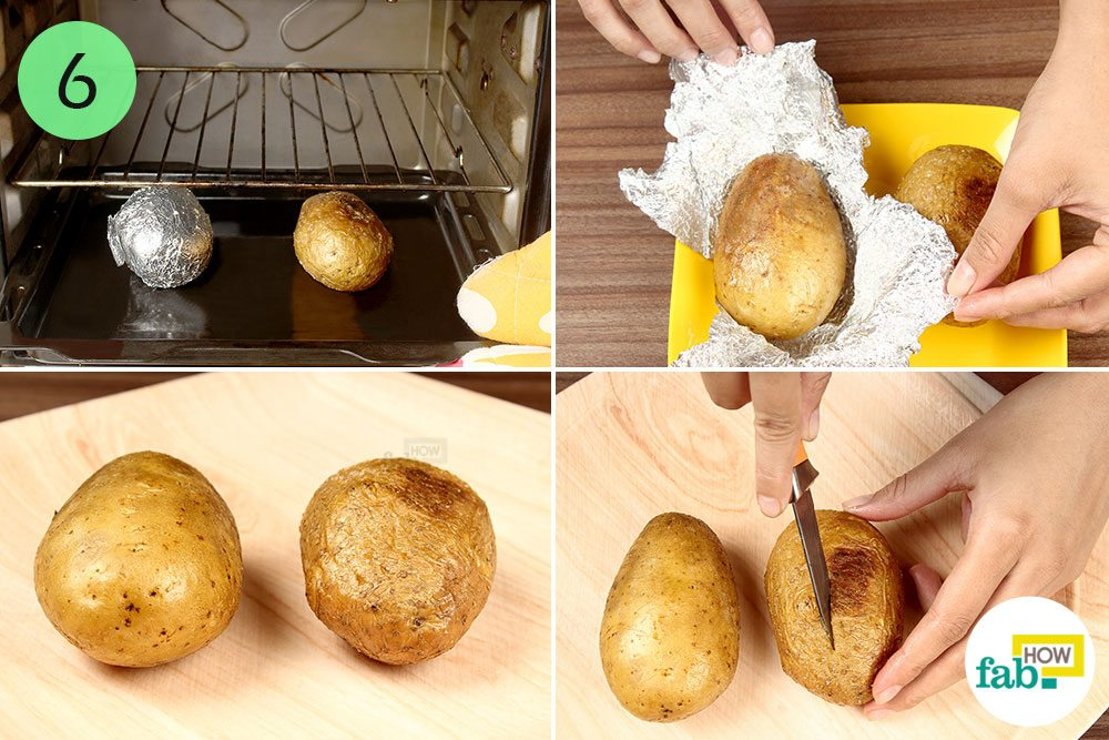 How To Bake A Potato In Microwave And Oven Fab How