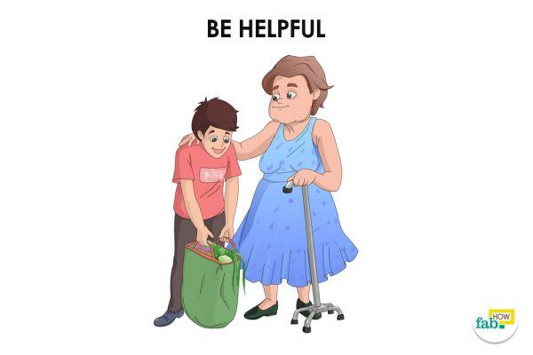 be helpful to show people respect
