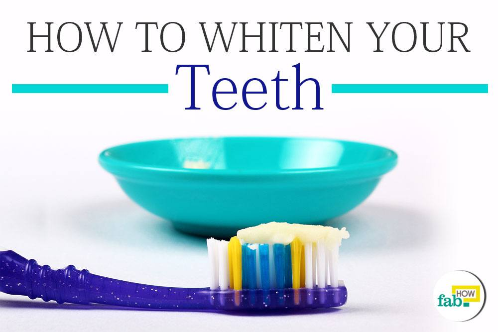 Whiten yellow teeth 2 minutes