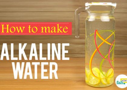 Correctly make alkaline water