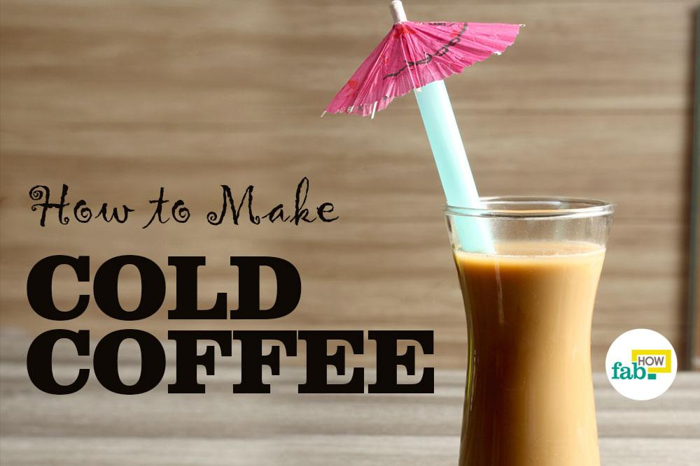 how to prepare a cold coffee
