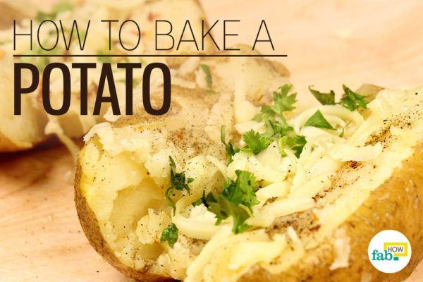 Bake potato microwave oven feat