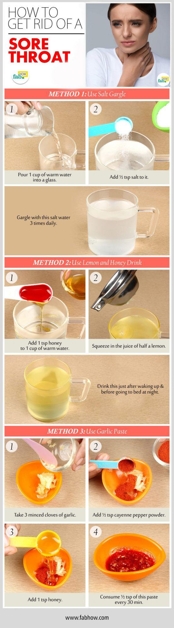 get rid of sore throat