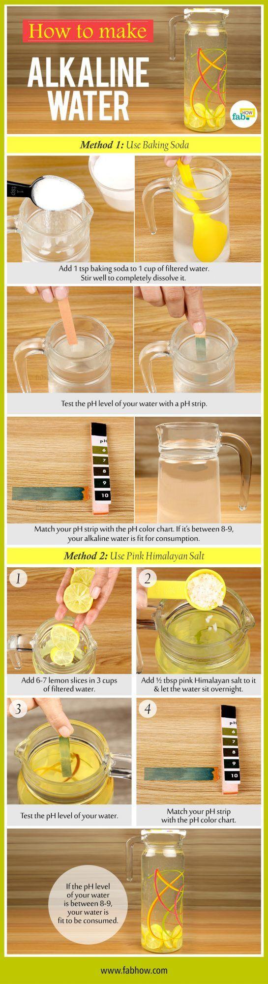 make alkaline water