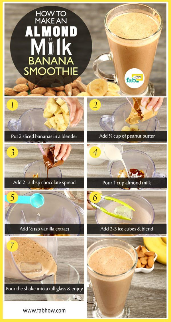 how to make almond milk smoothie