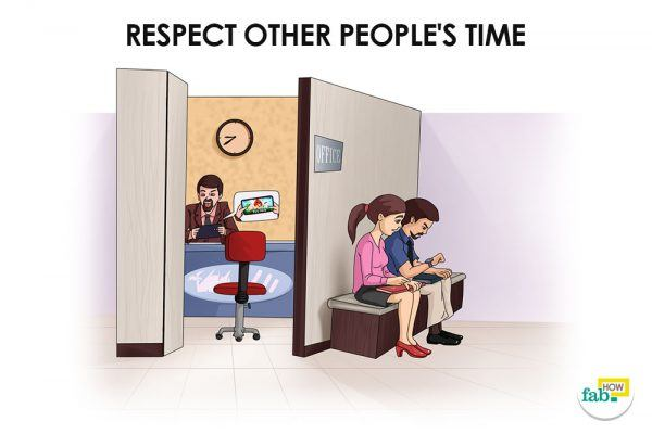 respect other people's time