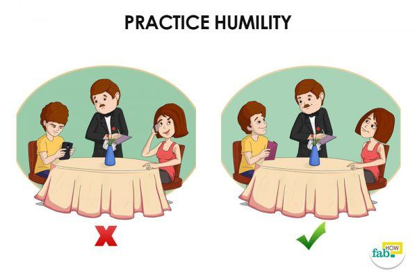 practice humility to show respect