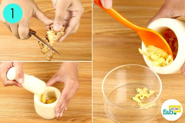 peel and crush ginger