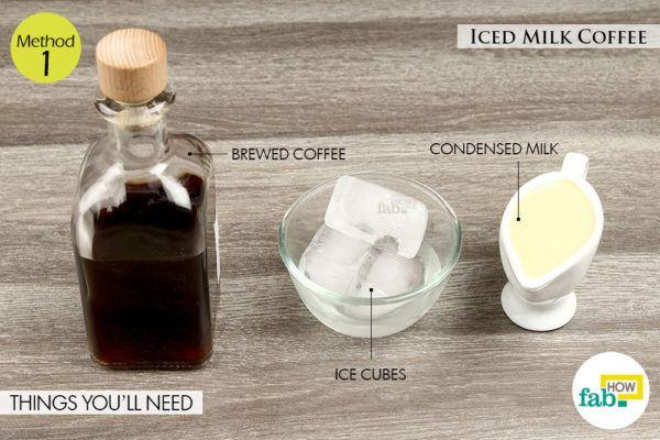 Iced milk coffee things need