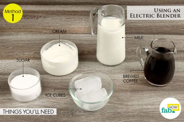 Using electric blender cold brewed things need