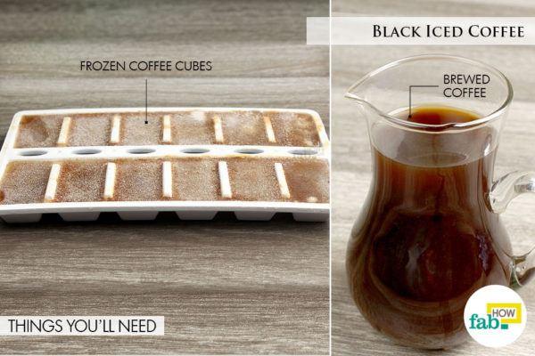 Black iced coffee things need