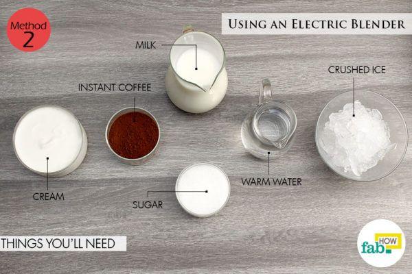 Instant coffee using blender things need