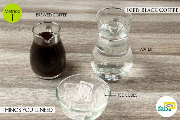 Iced black coffee things need