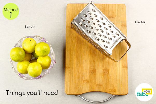 Using grater things need