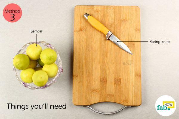 Using paring knife things need