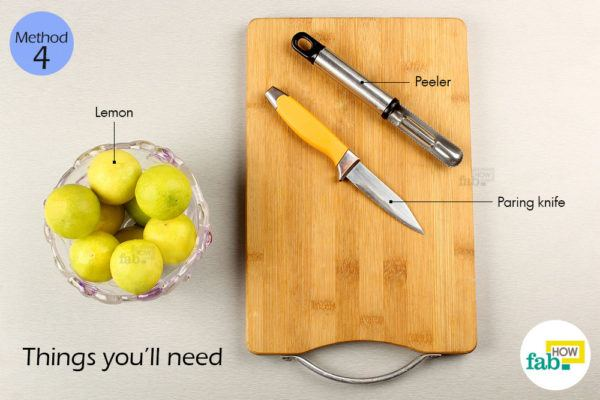 Using peeler things need