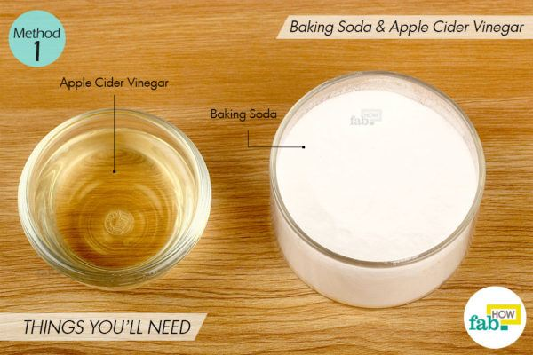 Apple cider vinegar method things need