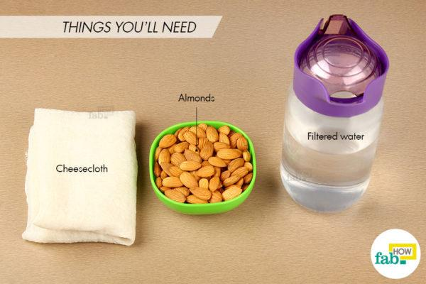 Make almond milk things need