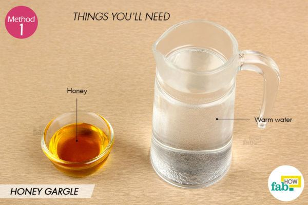 Honey gargle things need