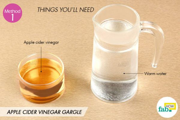 Apple cider vinegar gargle things need