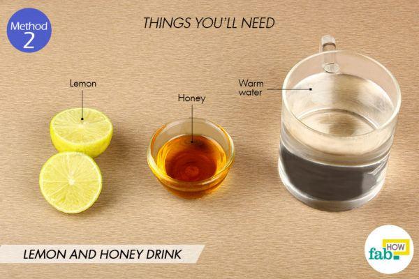 Lemon honey drink things need