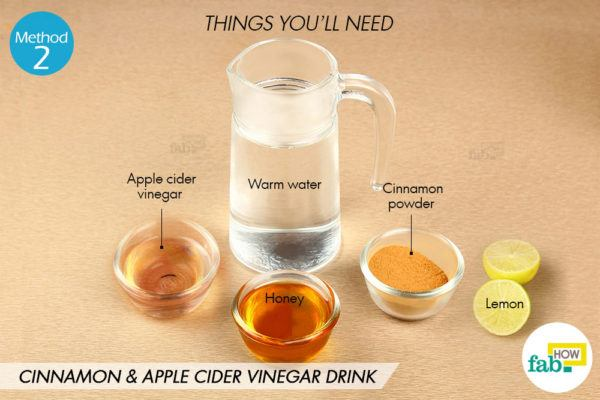 Cinnamon apple cider vinegar drink things need