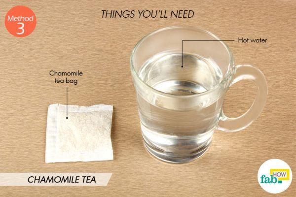 Chamomile tea things need