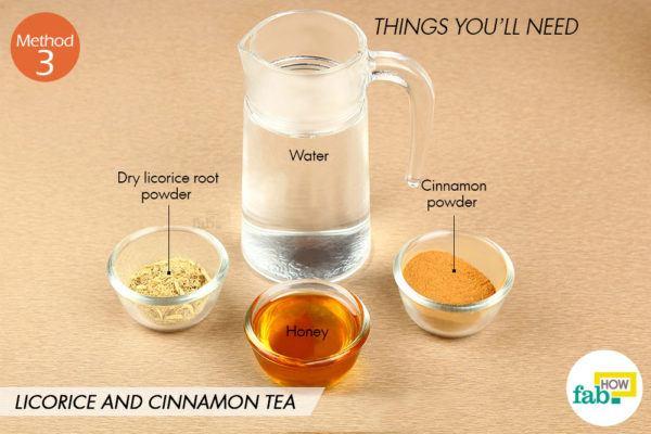 Licorice cinnamon tea things need