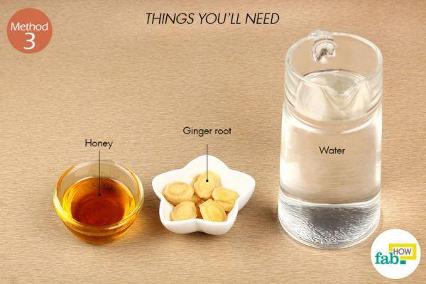 Ginger honey tea things need
