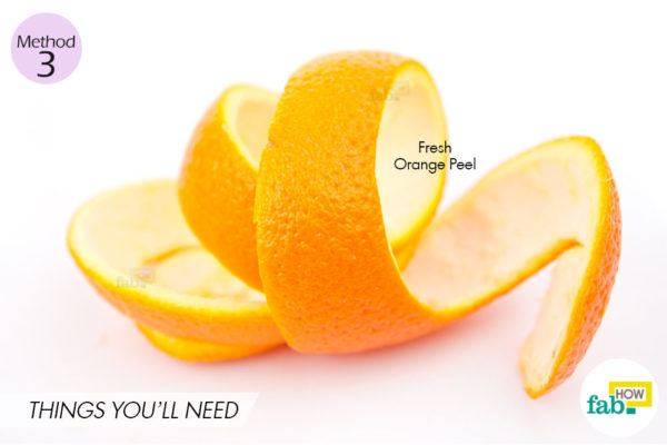 Orange peel method things need