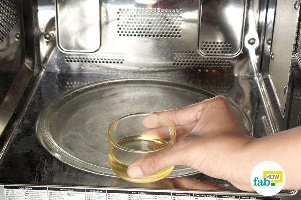 Warm up some castor oil