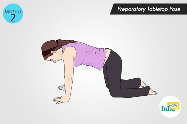Preparatory Tabletop Pose