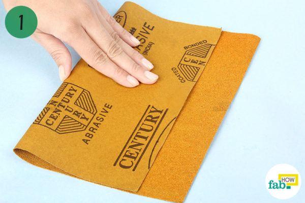 Fold the sandpaper