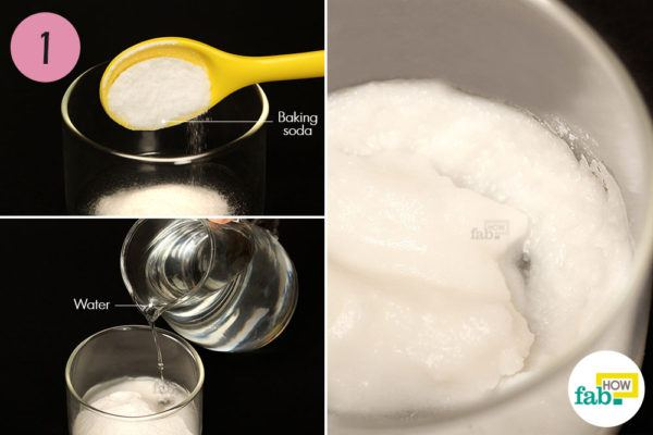 Make a paste of baking soda and water