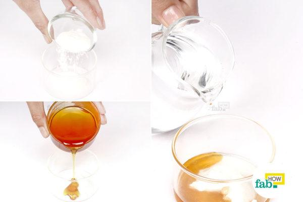 Make a paste of baking soda, honey and water
